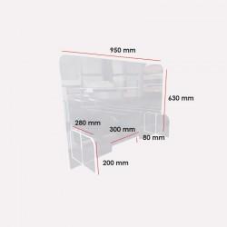 Hygiaphone de protection Covid-19 - 630 x 950 mm