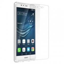 Pack Huawei P9 Lite Film Verre trempe + Coque Silicone Transparente