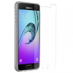 Pack Samsung A3 2016 film verre trempé + coque silicone transparente