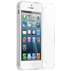 Pack iPhone 5/5S/SE film verre trempé + coque silicone transparente