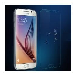 Pack Samsung Galaxy S6 film verre trempé + coque silicone transparente