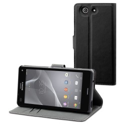 Etui folio noir pour Sony Xperia Z3 Compact