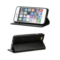 Etui folio noir pour Apple iPhone 5/5S/SE